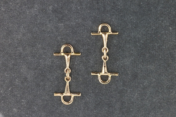 Full Cheek Snaffle Bit Earrings in 14K Gold by Cavallo Fine Jewelry