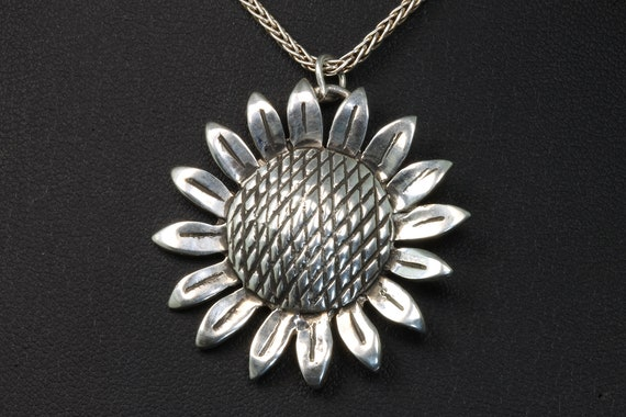 Sterling Silver Sunflower Pendant by Cavallo Fine Jewelry