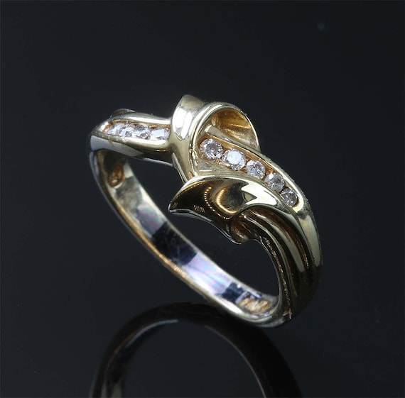 14K Yellow Gold and Diamond Woman's Fashion Ring by Cavallo Fine Jewelry