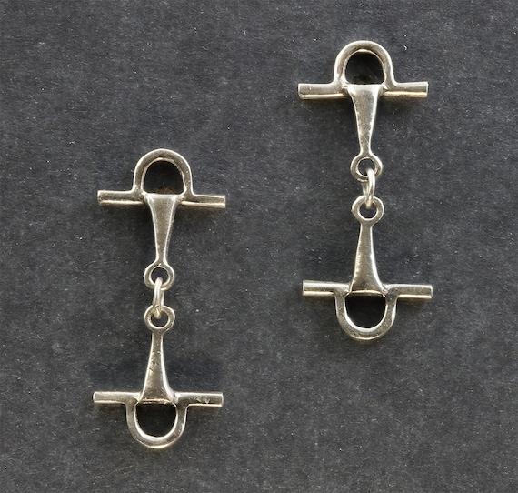 Sterling Silver Full Cheek Snaffle Bit Earrings by Cavallo Fine Jewelry
