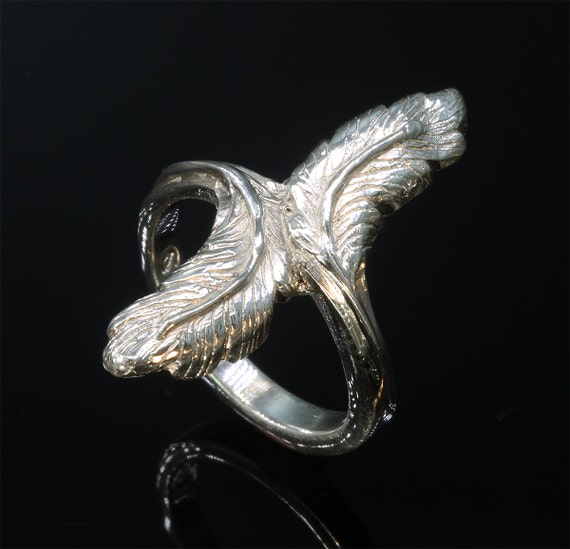 Sterling Silver Feather Ring by Cavallo Fine Jewelry