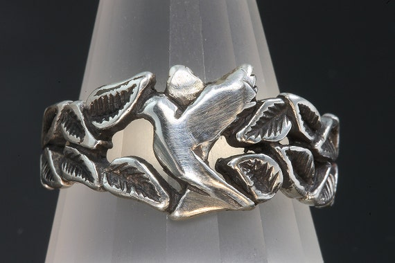 Sterling Silver Dove of Peace Ring by Cavallo Fine Jewelry