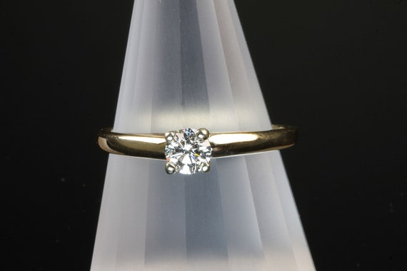 14K yellow gold diamond engagement ring .25ct SI1, H-J, marry me, I do, promise love bride to be, diamond solitaire marriage proposal