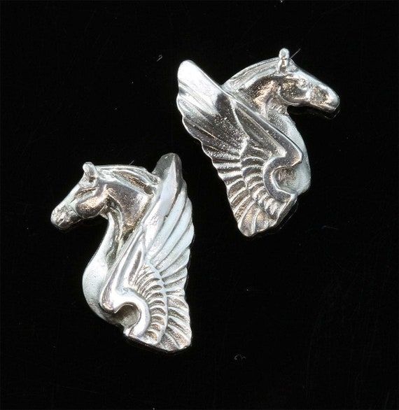 Sterling Silver Pegasus Earrings by Cavallo Fine Jewelry