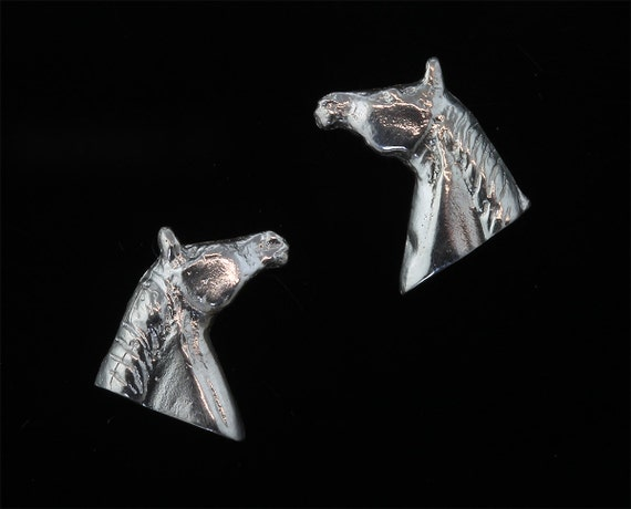 Sterling Silver Quarter Horse Stud Earrings by Cavallo Fine Jewelry