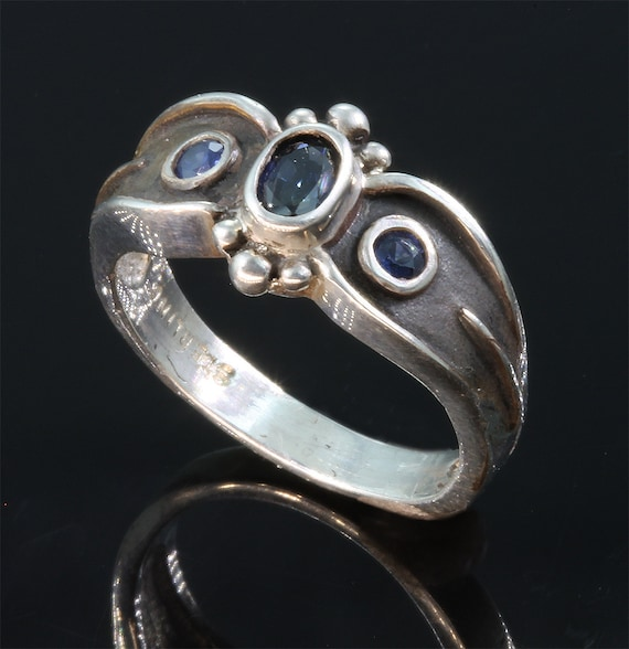 Sterling Silver and Blue Sapphire Ring by Cavallo Fine Jewelry