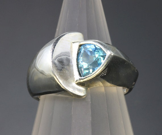 Sterling Silver and Swiss Blue Topaz Ring by Cavallo Fine Jewelry