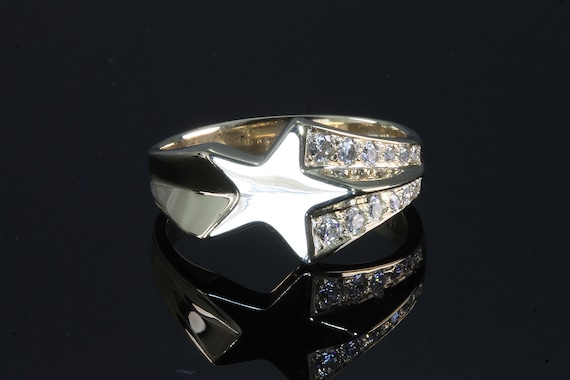 14K Yellow Gold Shooting Star Ring by Cavallo Fine Jewelry