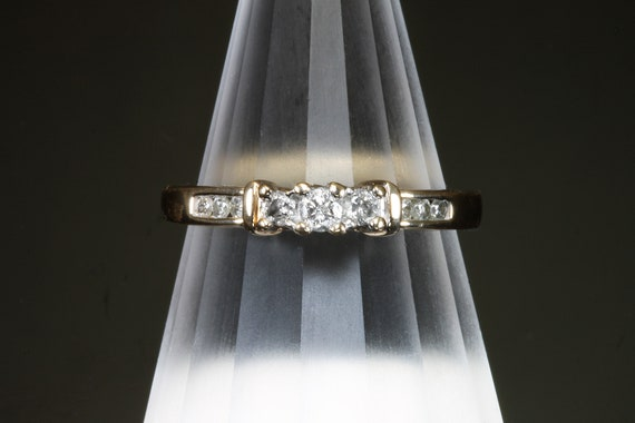 Vintage 10K yellow gold, .17ctw diamond ring, engagement, promise, friendship, love, gift for her