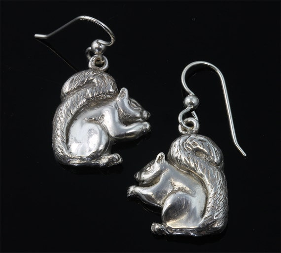 Sterling Silver Squirrel Earrings by Cavallo Fine Jewelry