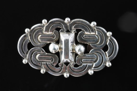 Vintage Raphael Dominguez 960 silver brooch, Taxco jewelry, pin, sterling silver, unisex jewelry, rare, Mexico artisan silversmith