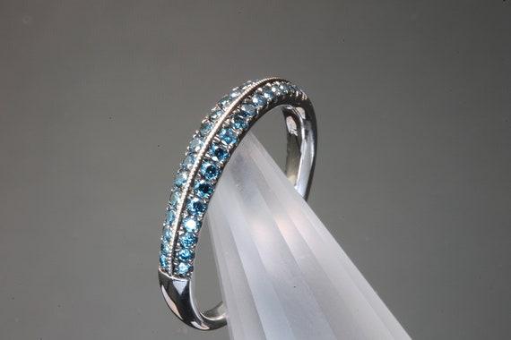 1/3 TCW Blue Diamond 14K White Gold Band