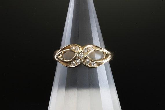 Handmade 14K yellow gold .13 ctw diamond ring, infinity, anniversary gift, any finger ring, gift for her, sparkles!