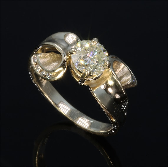 14K Yellow Gold, 1.04tcw Diamond Engagement Ring by Cavallo Fine Jewelry