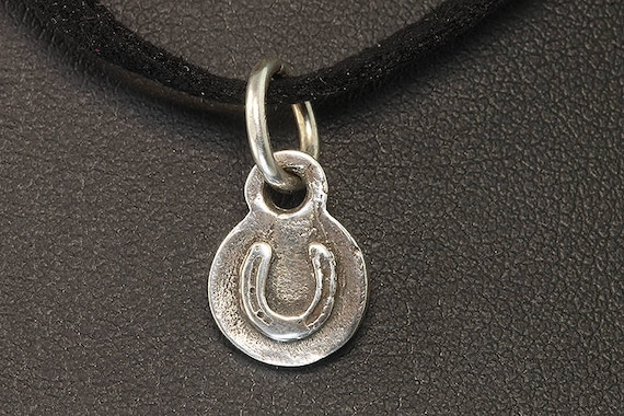 Sterling Silver Tiny Horse Shoe Pendant by Cavallo Fine Jewelry