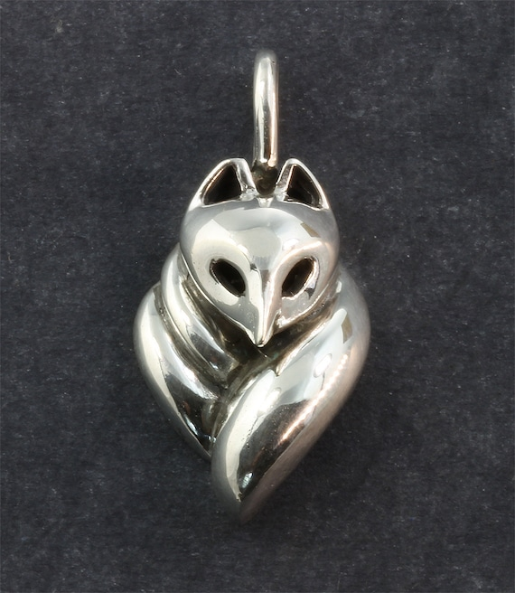 Sterling Silver 21st Century Fox Pendant© by Cavallo Fine Jewelry