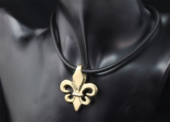 Brass Fleur De Lis Pendant by Cavallo Fine Jewelry