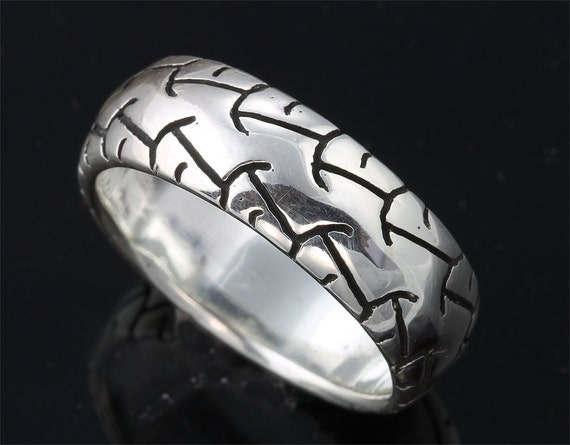 Sterling Silver Motorcycle Wheel Ring by Cavallo Fine Jewelry