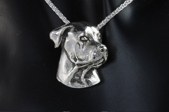 Sterling Silver Rottweiler Pendant by Cavallo Fine Jewelry