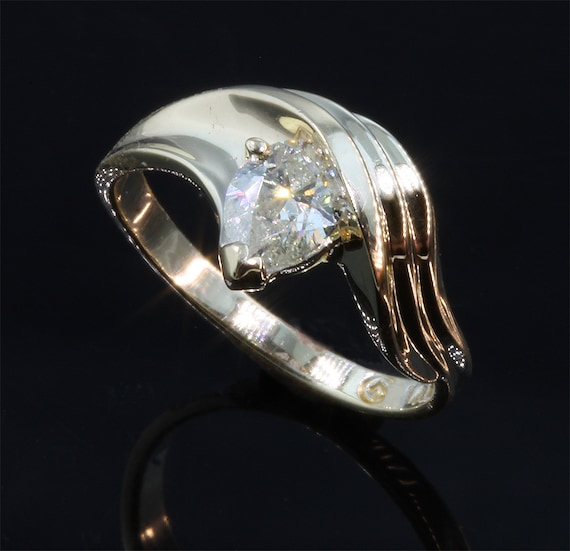 Pear Shaped Diamond Ring by Cavallo Fine Jewelry