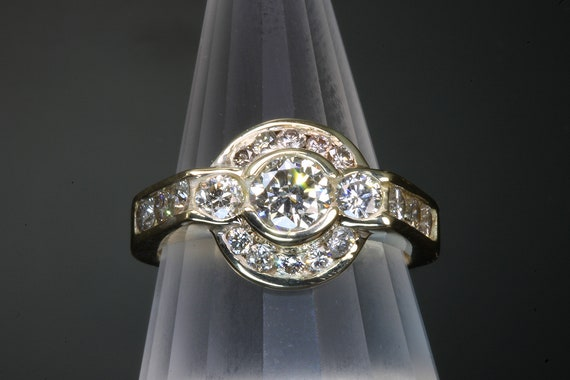 Handmade 14K Yellow Gold Engagement/Wedding/Anniversary/Cocktail/Any Reason Ring with 1.40 tcw Diamonds, sparkles galore!