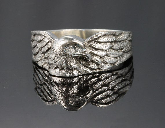 Eagle Ring in Sterling Silver by Cavallo Fine Jewelry