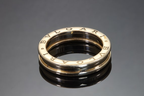 Vintage 18K yellow gold BVLGARI 4.75mm wide band, size 9.5 only, statement jewelry, lux wedding anniversary band