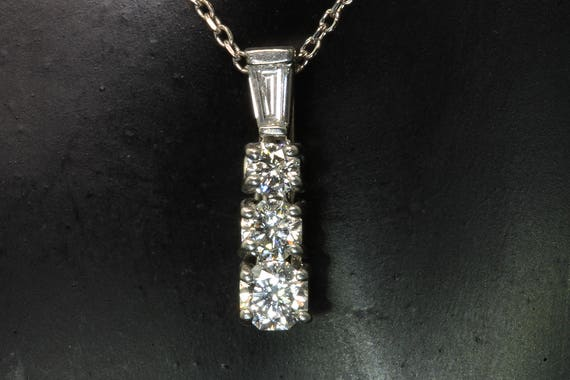"Vintage! 14K White Gold Pendant with .52 tcw Diamonds includes 16"" 14K White Gold Chain"