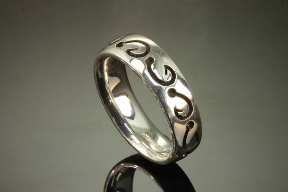 Sterling Silver Fish Hooks Band by Cavallo Fine Jewelry
