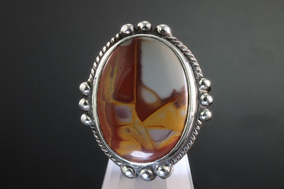 Handmade Sterling Silver Noreena Jasper Ring, big bold beautiful unisex statement jewelry, cabochon gemstone, made in the USA!