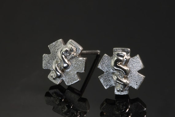 Sterling Silver Star of Life Stud Earrings by Cavallo Fine Jewelry