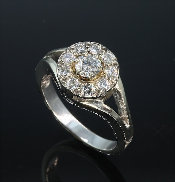 14K White Gold and 1.02 tcw Diamond Ring by Cavallo Fine Jewelry