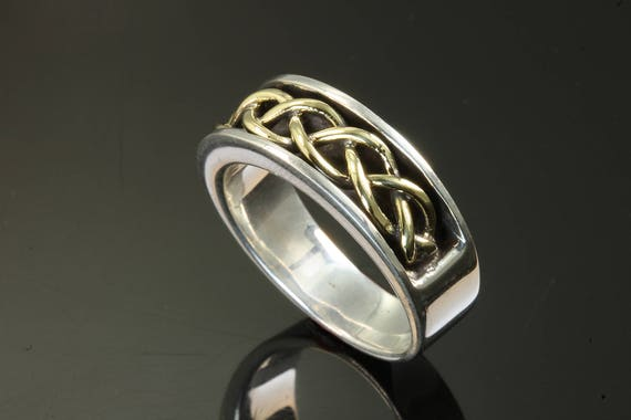 Sterling Silver and 18K Yellow Gold Ring by Cavallo Fine Jewelry