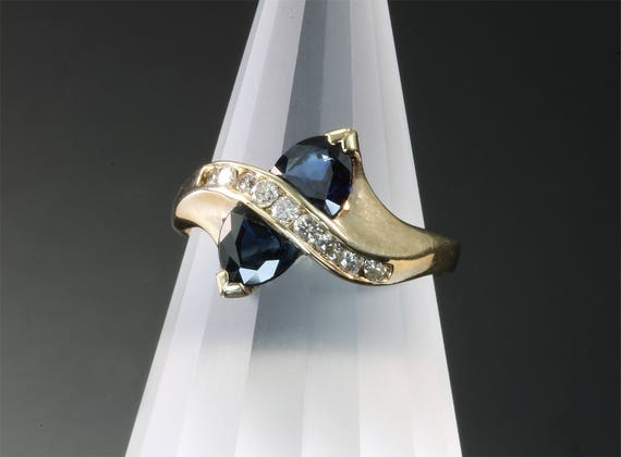 Blue Sapphire and Diamond Ring by Cavallo Fine Jewelry