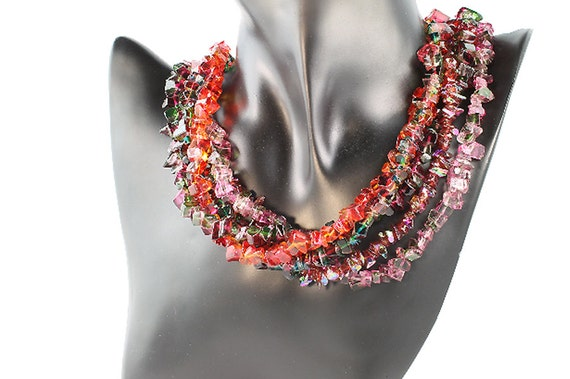 Festive Glass Bead Necklace by Cavallo Fine Jewelry