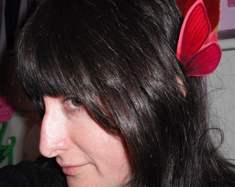 Butterfly Ear Wings Christmas Red