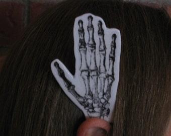 PAIR of Skeleton Helping Hands Ear Wings