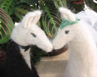 Llama Bride and Groom Wedding Cake Topper- Custom made for you