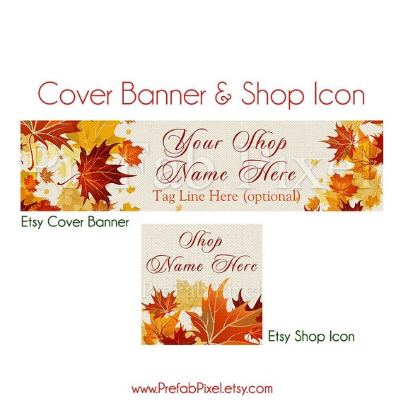 Fall Etsy Banner Autumn Shop Banner Cover Photo Banner Etsy