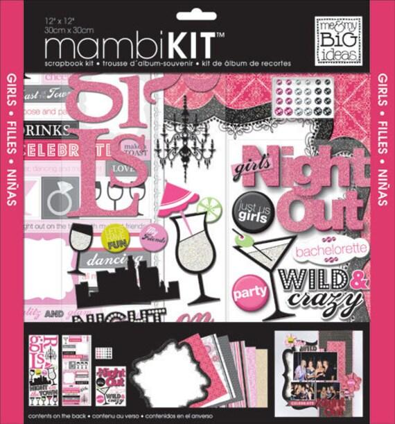 Me My Big Ideas Mambi Kit 12 X 12 Girls Night Out Girl Etsy