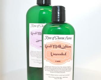 Goat Milk Lotion - 8 Ounces - You Choose Scent