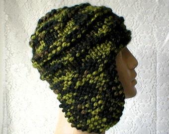 669d406e9a0 Camo ear flap hat trapper cap green black brown camo beanie hat mens womens winter  hat toque mens womens knit hat chemo cap ski toboggan hat