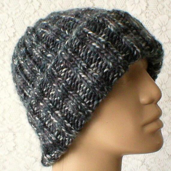 ee36f659994 Black gray watch cap beanie hat mens womens winter hat black