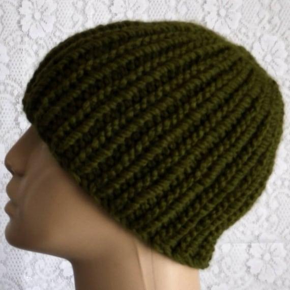 Olive green beanie hat mens womens knit hat green hat mens  88940dff23b
