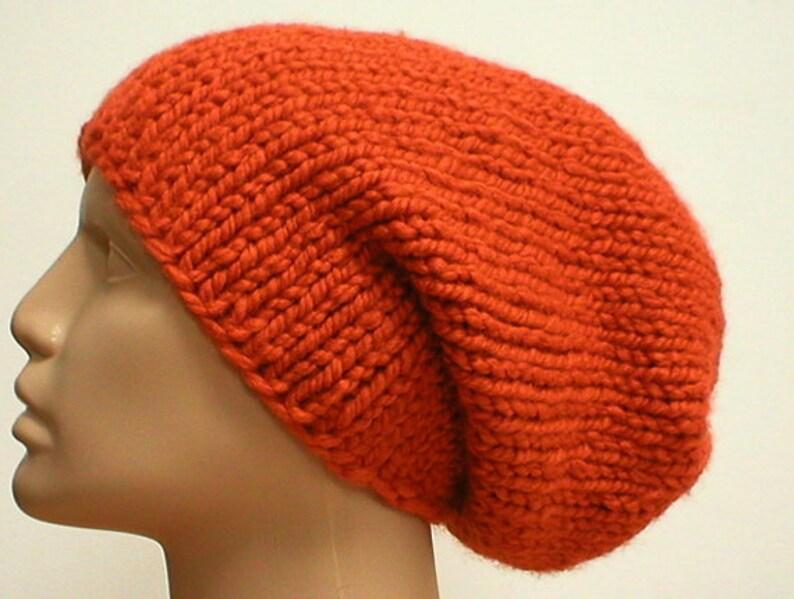bf22136b2046fd Pumpkin orange slouchy hat mens womens winter hat orange knit | Etsy