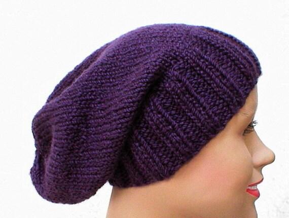 Dark purple slouchy hat men womens purple hat men womens  12c7cf75891