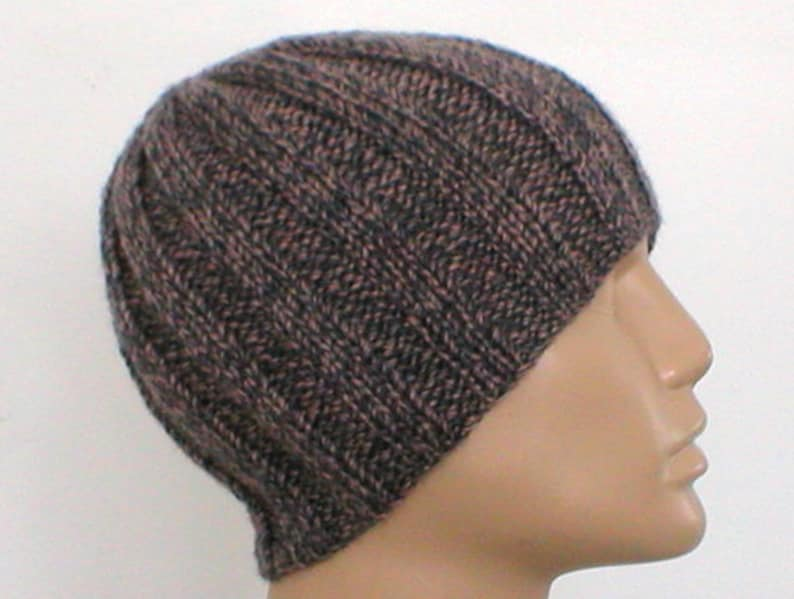 eeb99a8e25f Taupe gray beanie hat mens womens knit hat tan taupe charcoal