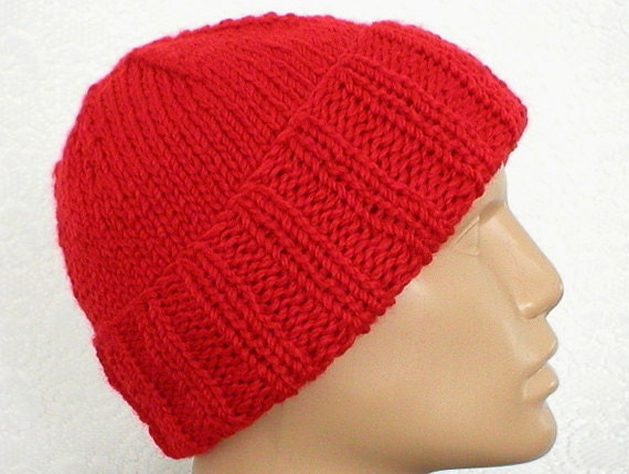 b16ad84d2 Mens womens red watch cap red slouchy hat red brimmed beanie hat red knit  hat red beanie hat mens womens winter hat mariners seafarer cap V7