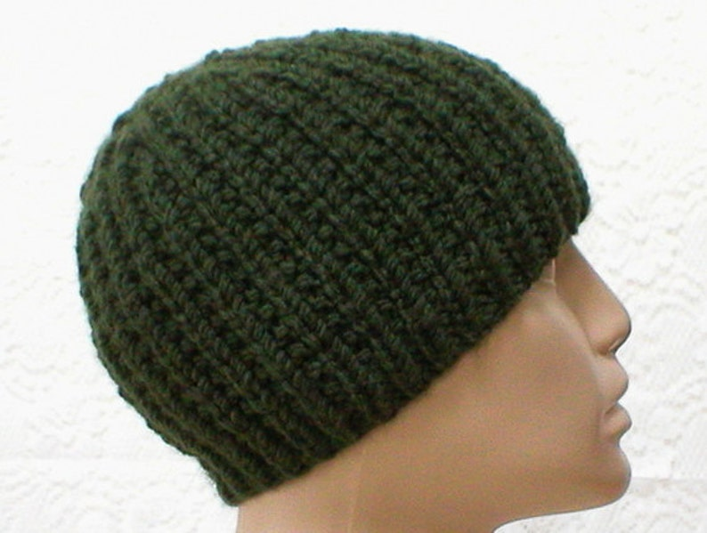 Olive army green beanie hat mens womens green hat ribbed hat  b43b0e9926b