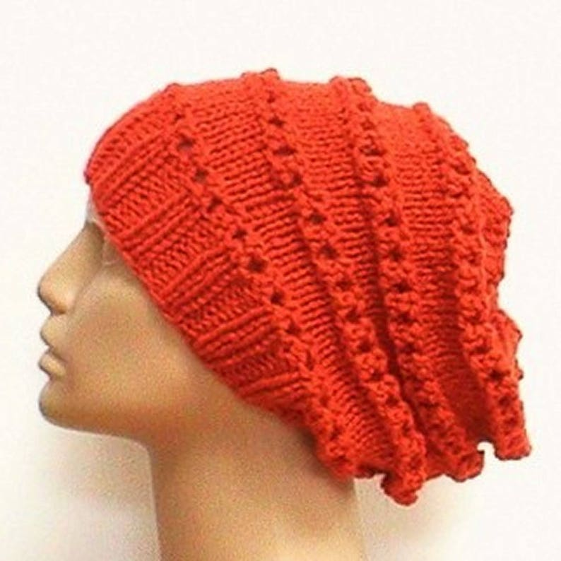 fdf29d5fdaf5c7 Orange lacy slouchy hat pumpkin orange hat womens slouchy hat | Etsy